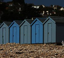Charmouth Beach Huts by Paul  Brewer