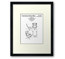 Iconic Eames Recliner/Lounger Lounge Chair Patent Drawings Framed Print
