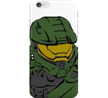 Master Chief Headshot Celtic Colored iPhone Case/Skin