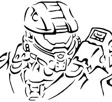 Master Chief Headshot Celtic by KewlZidane