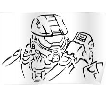 Master Chief Headshot Celtic Poster