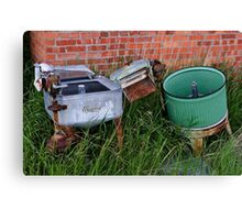 Antique Wringer Washer and Laundry Tub	 Canvas Print