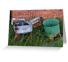 Antique Wringer Washer and Laundry Tub	 Greeting Card