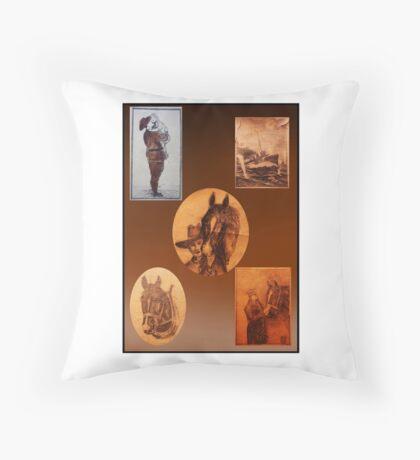 1929 Ancestor Art Throw Pillow
