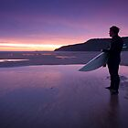 Surfer at Sunrise by jammysam1680
