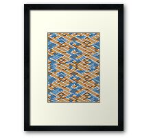 Geometric Lanes (Orange/Blue) Framed Print