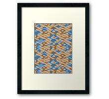 Geometric Lanes (Orange/Blue) Framed Print