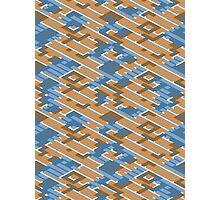 Geometric Lanes (Orange/Blue) Photographic Print