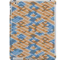 Geometric Lanes (Orange/Blue) iPad Case/Skin
