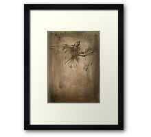 glass breaks bone Framed Print