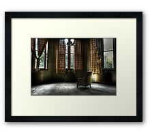 A lonely place to sit Framed Print