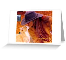 The Art Of Kissing Kitties Greeting Card