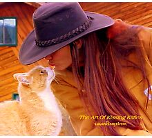 The Art Of Kissing Kitties Photographic Print