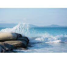 Emu Point Beach Western Australia- Sandbags and Sea Photographic Print