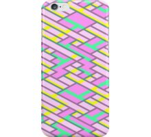Geometric Lanes (Glam Pink/Yellow/Blue) iPhone Case/Skin