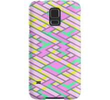 Geometric Lanes (Glam Pink/Yellow/Blue) Samsung Galaxy Case/Skin