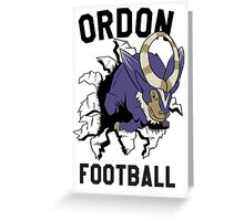 ORDON FOOTBALL Greeting Card