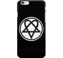Heartagram - Black on White iPhone Case/Skin