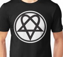 Heartagram - Black on White Unisex T-Shirt