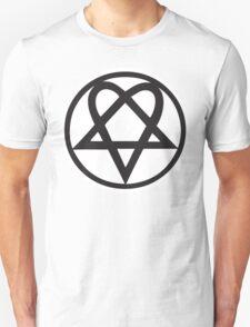 Heartagram - Black on White Unisex T-Shirt