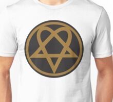 Heartagram - Gold on Black Unisex T-Shirt