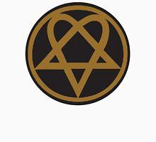 Heartagram - Gold on Black Unisex T-Shirt