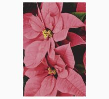 Pink Poinsettias Painting - Christmas Impressions Kids Clothes