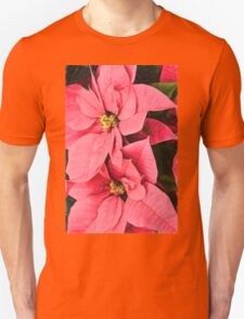 Pink Poinsettias Painting - Christmas Impressions T-Shirt