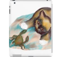 Crab Confrontation with Kitten iPad Case/Skin