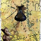 26 - THE CROCK OF GOLD - DAVE EDWARDS - INK, WATERCOLOUR & COLLAGE - 1996 by BLYTHART