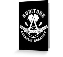 Auditore Assassin Academy Greeting Card