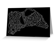 Race Tracks to Scale V2 - Plain Layouts (Inverted) Greeting Card