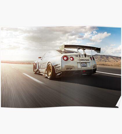 GTR R35 Cruising Poster