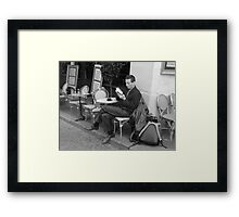 Paris read Framed Print