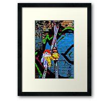 Back Alley Ski Fun  Framed Print