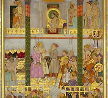 Balchand  - The Presentation of Prince Dara-Shikoh's wedding gifts (1633) c. 1656 - 1657 by Adam Asar