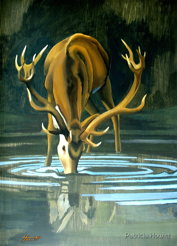 Drinking at the Pool by Patricia Howitt