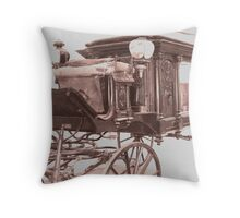 the ole' Idaho  penitentiary hearse Throw Pillow