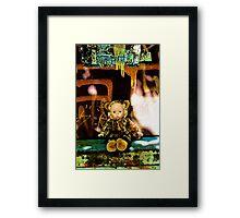 Back Alley Leopard Doll  Framed Print