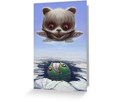 Arctic Flying Possum meets Wrong Fish Greeting Card