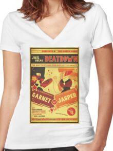 JAIL BREAK Women's Fitted V-Neck T-Shirt