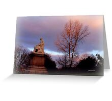 Statue at Dusk Greeting Card