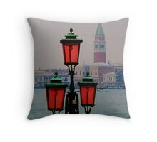 Venetian lamppost Throw Pillow