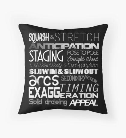 12 Principles of Animation Throw Pillow