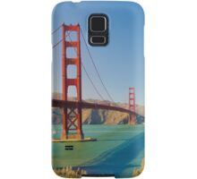 Golden Gate Bridge on a bright clear blue sky day Samsung Galaxy Case/Skin