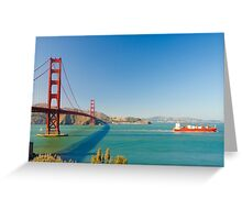 Golden Gate Bridge on a bright clear blue sky day Greeting Card
