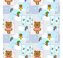 Baby pattern with teddy bears Photographic Print