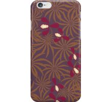 Painted exotic orchids flowers retro pattern iPhone Case/Skin