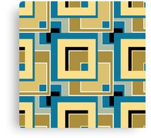 Abstract modern squares seamless pattern retro colors Canvas Print