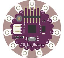 Arduino Lilypad - Fritzing Drawing by Rupert  Russell